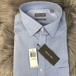 Michael Kors 17- 17.5 34 35 XL Dress Shirt Regular